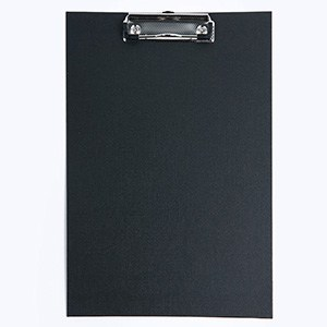 MELANICO LTD - CLIPBOARD BLACK SINGLE