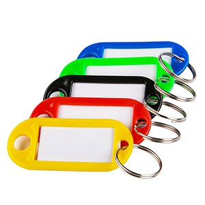MELANICO LTD - Key tag d.rect for all colors10 pcs