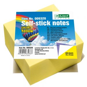 MELANICO LTD - notes 76x76 yellow 400sh